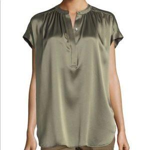 VINCE-Shirred Silk Blouse